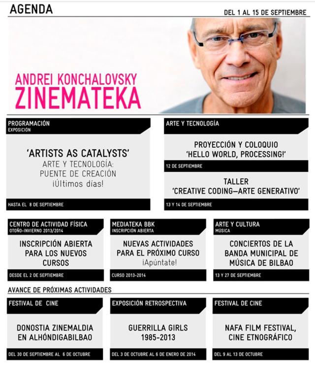 Alhondiga AGENDA 1 a 15 Sept 2013