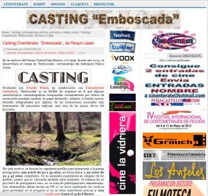 Casting Emboscada Cineterate