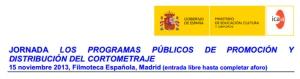 Cortos, Jornadas 15 Nov 2013 Entrada