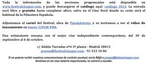 22 Festival de Cine de Madrid