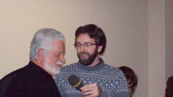 El realizador Alvaro Oliva, autor del videoclip que visionamos en esta sesión y que protagonizaba Venancio Méndez