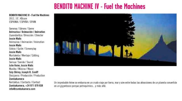 Bendito Machine IV - Fuel the machines