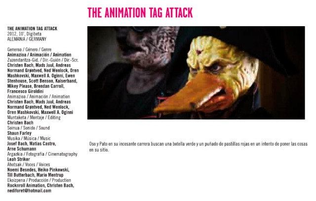 The animation tag attack