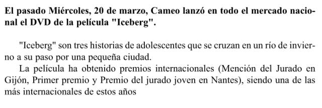 Iceberg Cameo