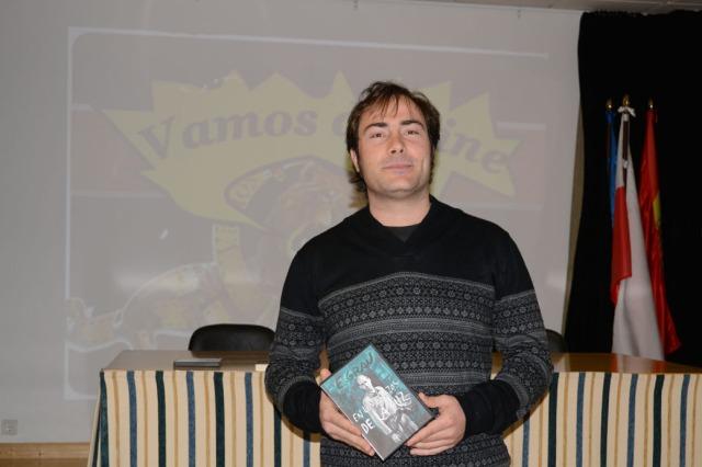 Marcos F. Aldaco presentando su documental