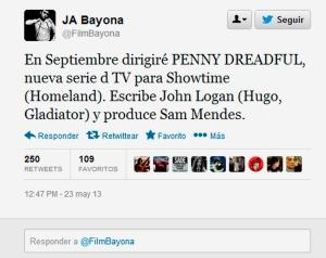 J A Bayona twitter