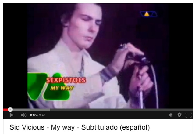 My way de Sid Vicious