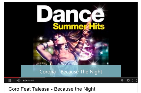 Coro Feat Talessa - Because the Night