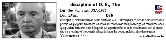 The Discipline of D. E.