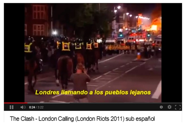 The Clash - London Calling London Riots 2011 sub español