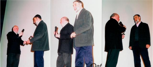 Quincena de Cine, 2000, Cines Bahía de Santander. Homenaje organizado por Cine-Club Trenti y La Revista de Cine de Cantabria reconociendo la trayectoría cinematográfica de Paulino Viota