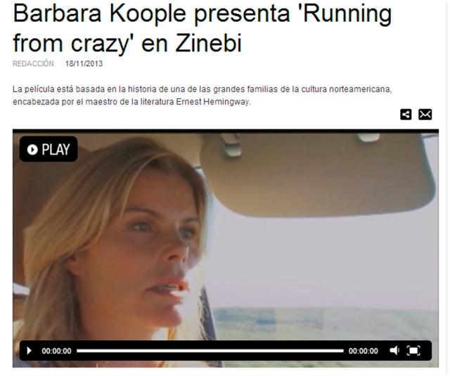 Zinebi 2013 Barbara Koople presenta 'Running from crazy' en Zinebi