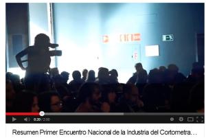 Resumen Primer Encuentro Nacional de la Industria del Cortometraje